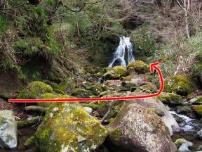 遊女の滝 滝壺