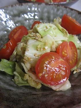 20150109 キャベツ胡麻サラダ