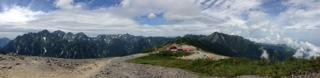 蝶ヶ岳山頂よりパノラマ