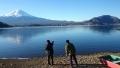 河口湖から富士と足和田山