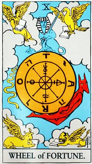 タロットカード運命の輪 by占いとか魔術とか所蔵画像