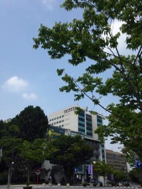 セミの声するソウル市立大学へ。