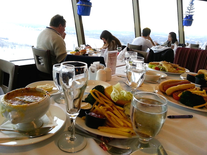 food at skylon tower