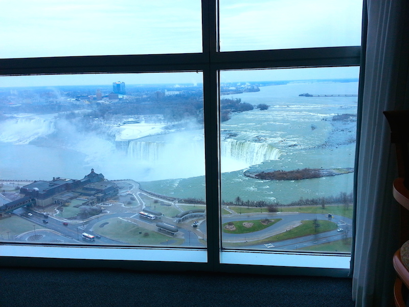 Niagara falls from the hotel room_1