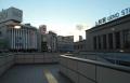上野駅前デッキから見る西の空