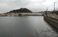 夕照橋と野島山