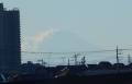 富士山のシルエット?