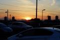帰りに見た夕陽