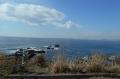 テラス席から見る海
