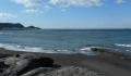 館山湾から対岸を見る(正面に富士山)