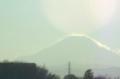 微かに見える富士山