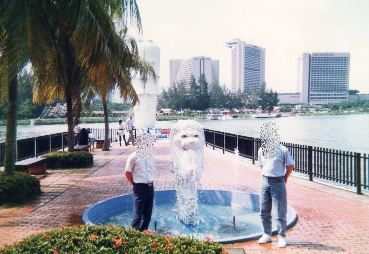 香港1989年シンガポール出張-1