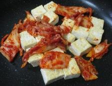 キムチ豆腐 調理②