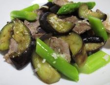 ナスと豚肉のネギ塩ダレ炒め 調理⑥