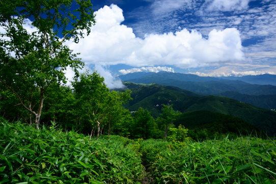 恵那山広河原コース中間点あたりから見た中央アルプス