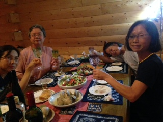純子邸夕食