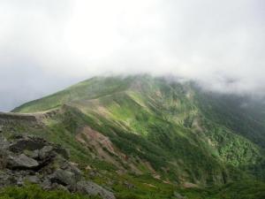 硫黄岳下山
