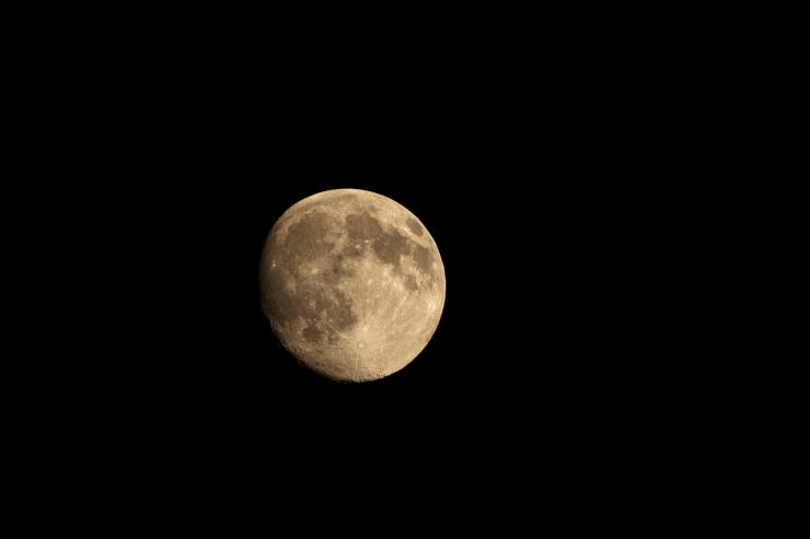 熱帯夜の月
