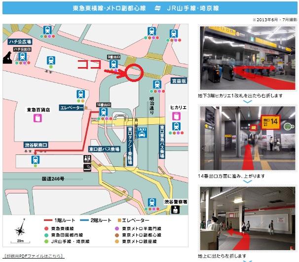渋谷駅配置2