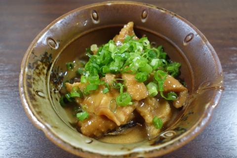 鶏皮味噌煮