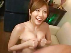 【麻美ゆま】おっぱいを密着させて淫語とパイズリフェラで責める巨乳痴女!