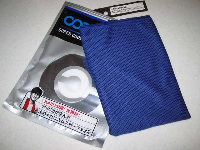 クールコアタオル ブルー COOLCORE SUPER COOLING TOWEL Color Blue 開封