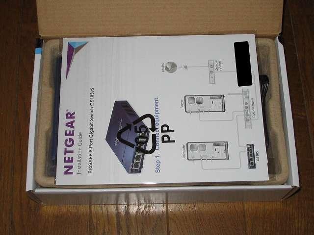 NETGEAR GS105-500JPS(GS105v5) パッケージ開封