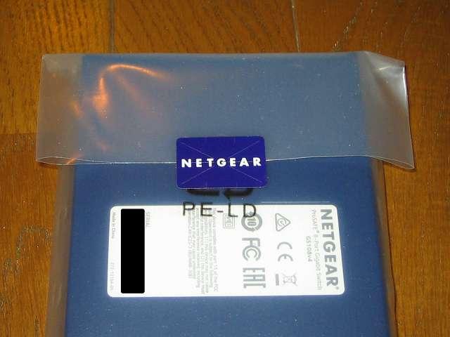 NETGEAR GS108-400JPS(GS108v4) 包装袋開封