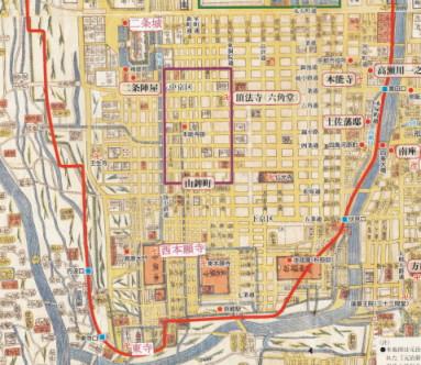 京都地図洛中南部
