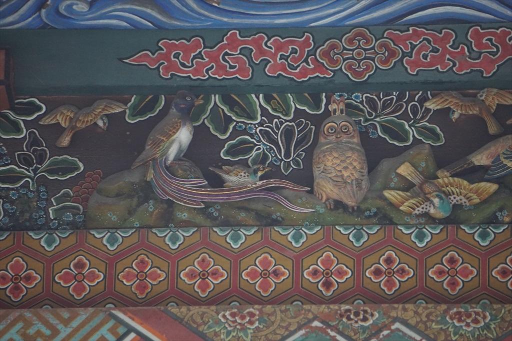 本殿北の彫刻