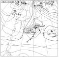 今日の南岸低気圧