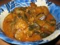 お化け胡瓜の赤味噌煮