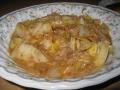 白菜と挽き肉のクリーム炒め