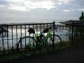 150712早朝の琵琶湖湖岸:文化館付近