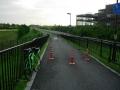 150712近江大橋東詰手前から自転車道に合流
