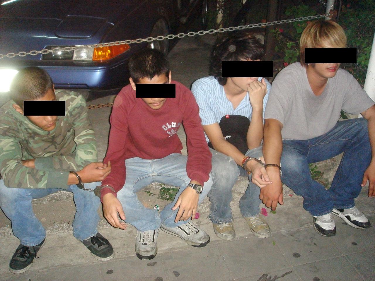 僕らが捕まえた暴行の犯人たち。