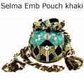 Selma Emb Pouch khaki1