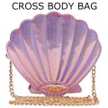 PINK SHELL CROSS BODY BAG111