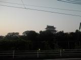 小田原城の横を通過