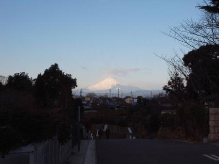 神社裏から初富士