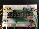 電卓ゲームArduino版ブレッドボード