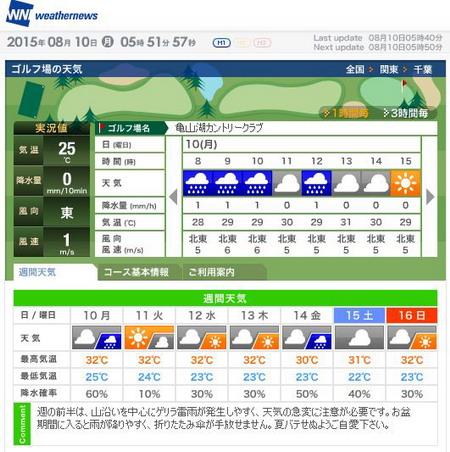 亀山湖天気3