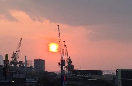 8月9日 夕陽 1