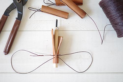 革で手作りチョークカバー