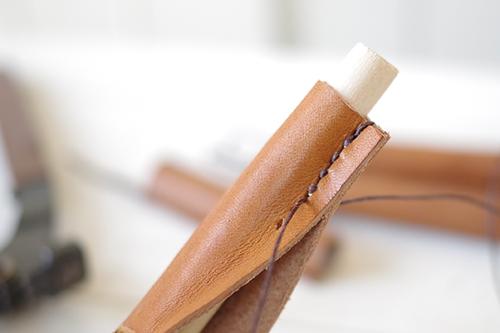 チョークカバーを革で作る