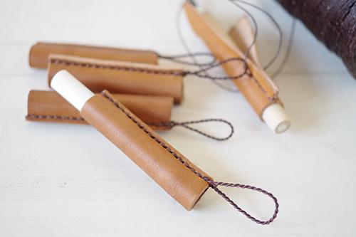 手縫いレザー製チョークカバー