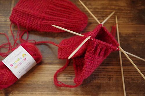 手編みルームソックス
