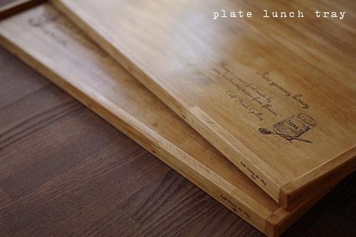 ナチュラルな木製ランチマット