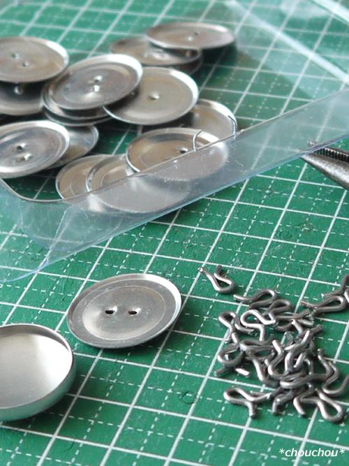 ダイソー くるみボタン 金具