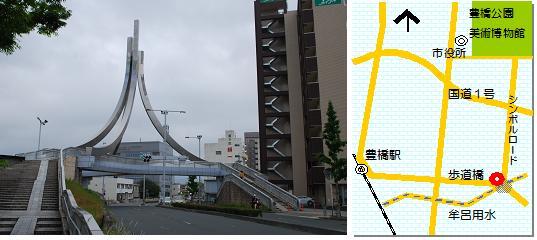 前田橋歩道橋マップ